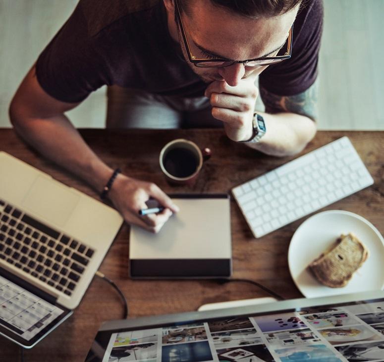 Mann schreiben
